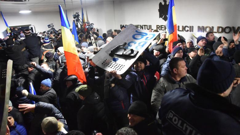 protest parlament moldova 20 01 2016 agerpres 8220883