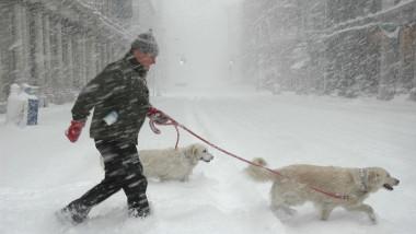 furtuna de zapada ninsoare SUA getty