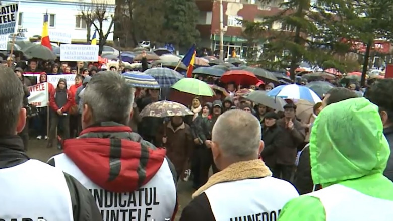 protest valea jiului