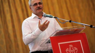 Conferinta-judeteana-a-PSD-Ilfov- Liviu Dragnea la tribuna psd ro 17 08 2015