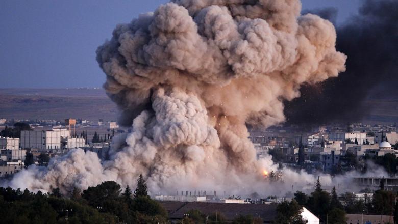 explozie bomba bombardament siria - GettyImages - 23 oct 15