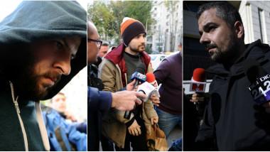 Colaj Paul Catalin Gancea Alin Anastasescu si Costin Mincu proprietari Colectiv agerpres 2 noembrie 2015