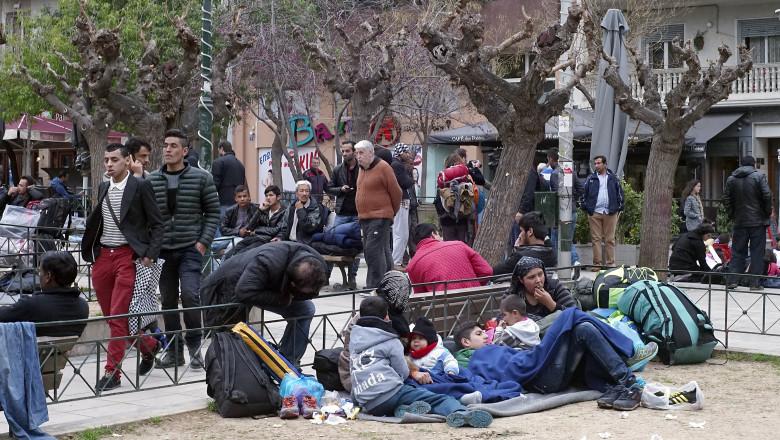 Migranti blocati in Grecia GettyImages-512020072
