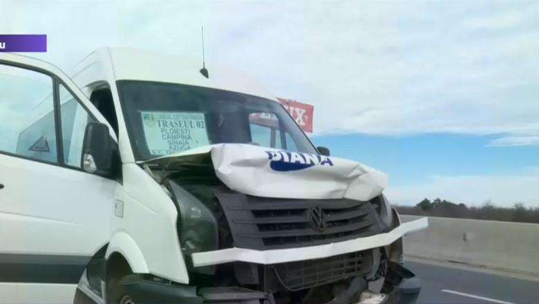 microbuz accident avariat