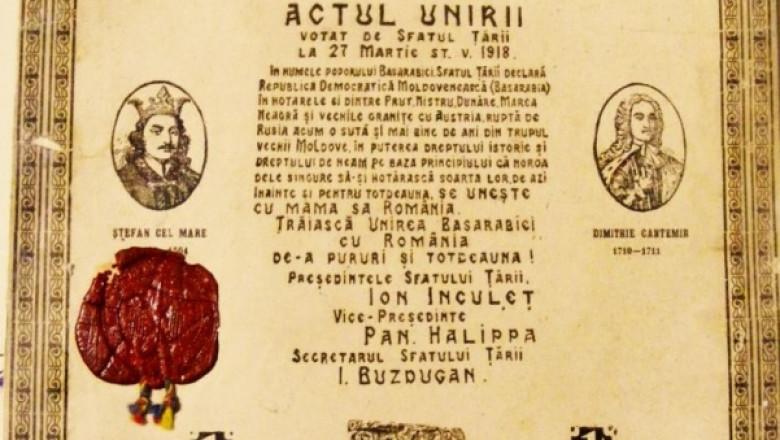ACTUL UNIRII BASARABIA CU ROMANIA - CROP