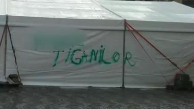 cort vandalizat