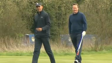 golf obama cameron