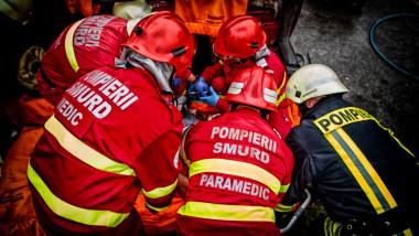 Interventie SMURD-pompieri accident raniti