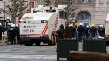 politie scutieri bruxelles belgia getty