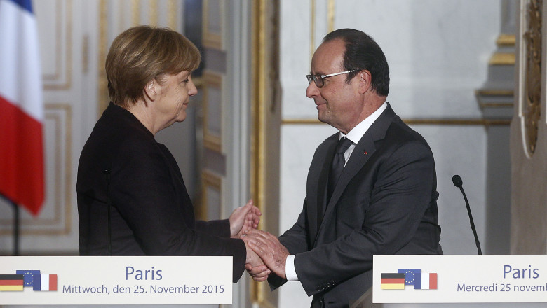 GettyImages angela merkel si francois hollande