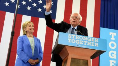 Bernie Sanders a anunțat că o susține pe Hillary Clinton în cursa pentru Casa Albă