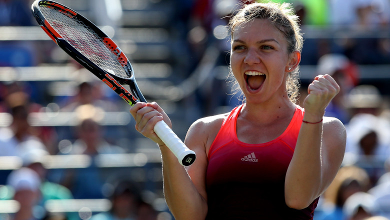 simona halep bucurie GettyImages-487240108