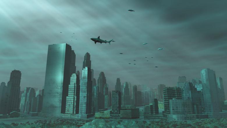 ilustrație oraș scufundat