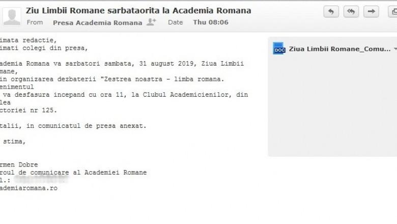 ziu limbii romane