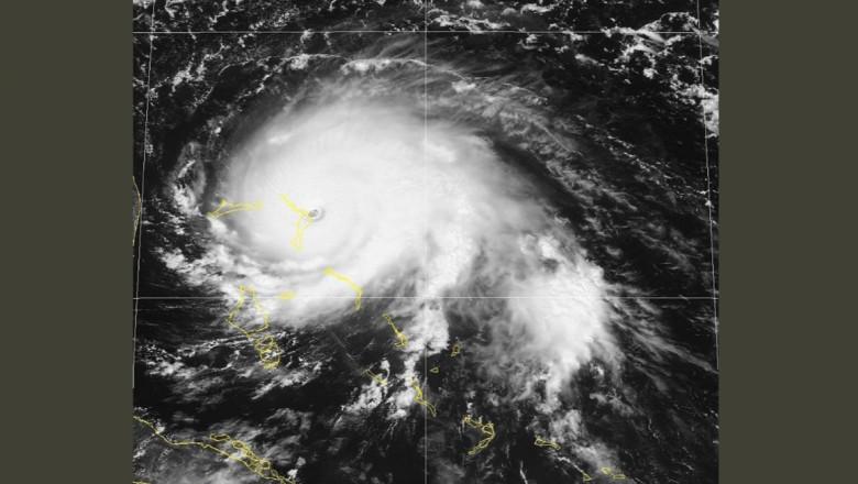 uraganul dorian bahamas satelit