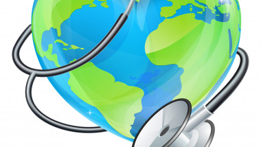 Heart Earth World Globe Stethoscope Health Concept