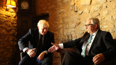 Boris Johnson Meets With EU Commission President Juncker