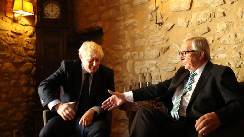 Boris Johnson Meets With EU Commission President Juncker