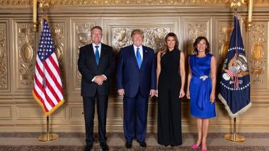 klaus si carmen iohannis alaturi de președintele si prima doamna SUA
