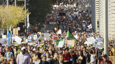 Climate March Held In Montreal, Canada