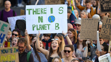 Activists In Edinburgh Join The Global Climate Strike