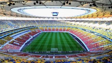 Vedere panoramică cu Arena naționalaă din București.