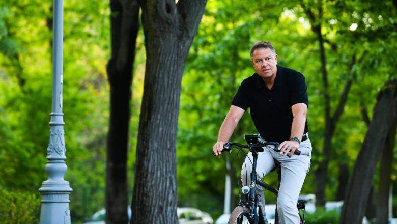 Klaus Iohannis bicicleta
