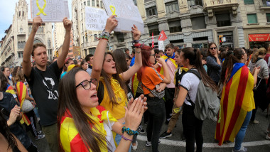 Catalan Protesters Call General Strike Over Jailing Of Separatists