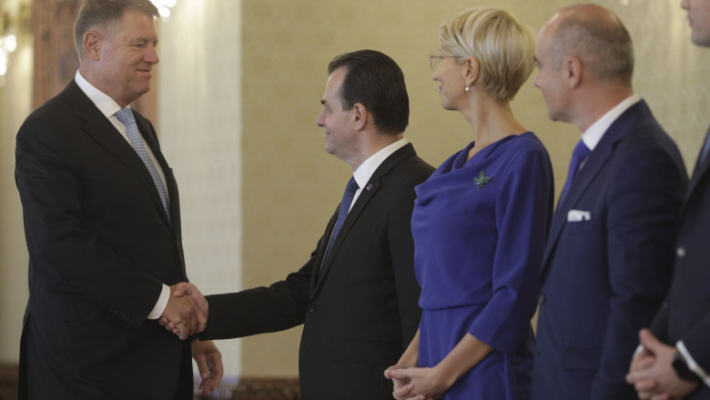 Klaus Iohannis, Ludovic Orban, consultări la Cotroceni