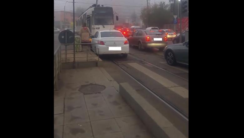 sofer trafic bucuresti tramvai