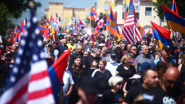 Unified Young Armenians Hold March Commemorating Armenian Genocide