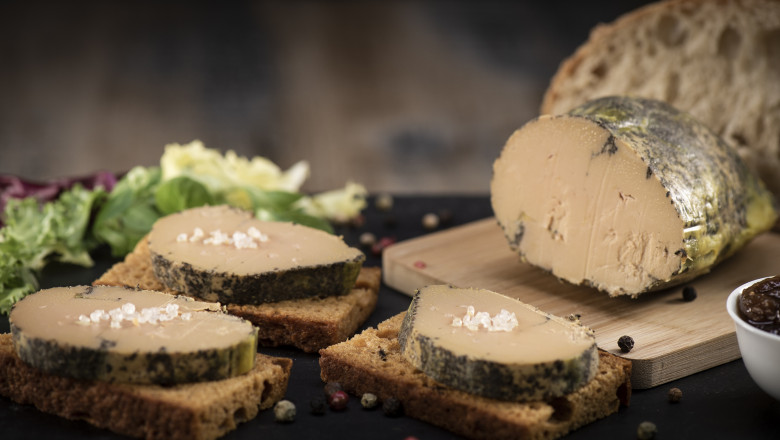 Foie gras and gingerbread cake, Bordeaux, France