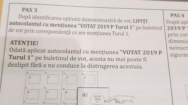 autocolant votat