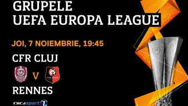 UEL CFR Cluj - Rennes 7 nov