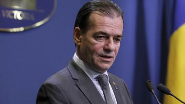 ludovic orban declaratii de presa la guvern