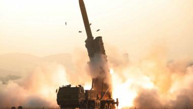 test nord-coreean lansator multiplu - Rodong Sinmun