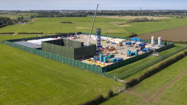 Aerial Views Of The Cuadrilla Fracking Site