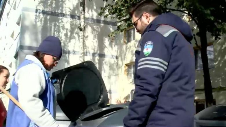 politist-local-suceava-paza-gunoi