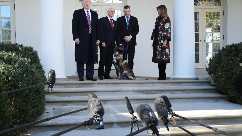 Hero Military Dog From Al-Baghdadi Raid Honored At The White House