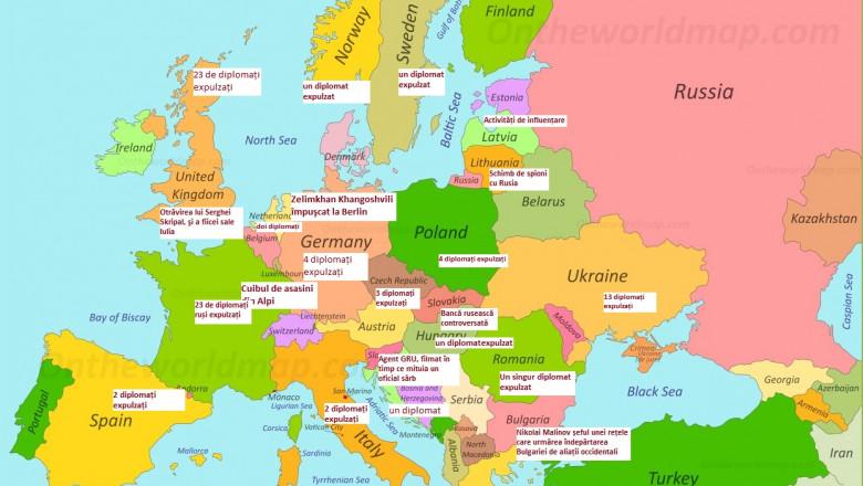 G4media Harta Spionilor Ruși Infiltrați In Europa țările In Care