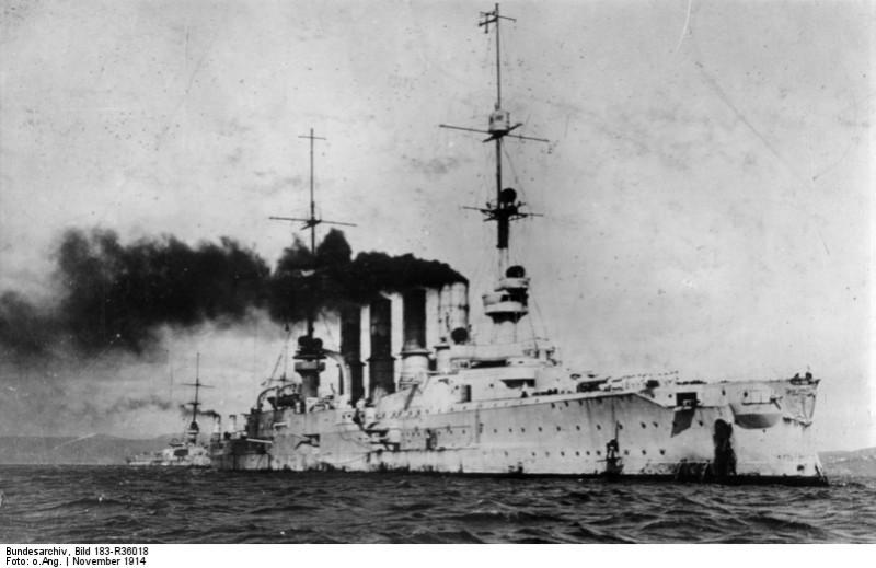 Nava Scharnhorst, Primul Război Mondial