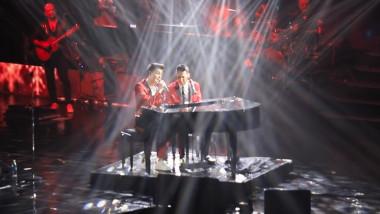 Ștefan Bănică jr. a cântat pentru prima dată pe scenă cu fiul său, Radu Ștefan Bănică