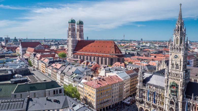 City panorama of Munich