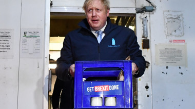 Boris Johnson Campaigns For Conservatives On Eve Of UK Election