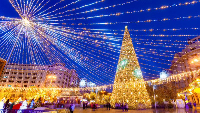 Beautiful Christmas scene in Bucharest capital