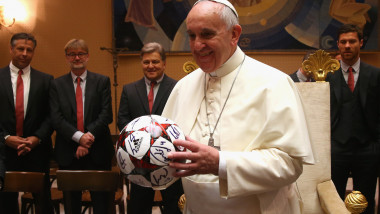 FC Bayern Muenchen Private Audience With Pope Francis