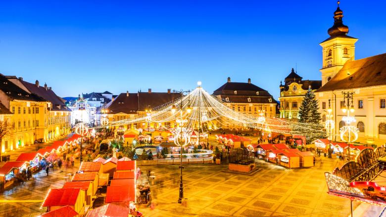 Sibiu, Christmas Market, Transylvania - Romania