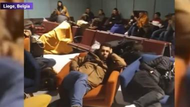 liege, romani blocati pe aeroport