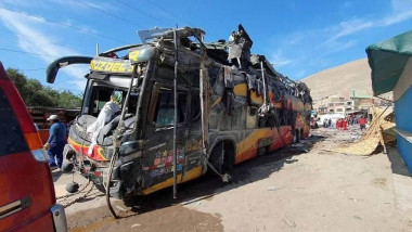 The number of deaths due to a bus crash in southern Peru rises to 16