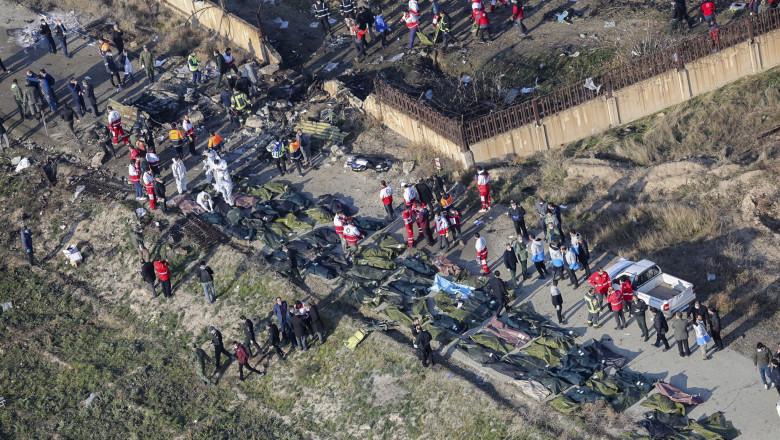 Avion ucrainean doborât deasupra Teheranului